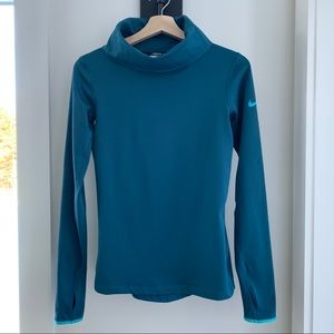 Nike Pro Dri Fit Cowl Neck Pullover Thermal Shirt